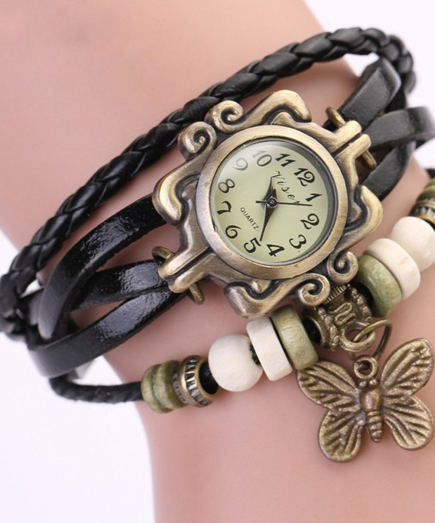 Online Shopping India Vintage Black Bracelet Butterfly