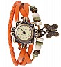 Vintage Orange  Bracelet Butterfly Analog Watch For Women/Ladies - Online Shopping India