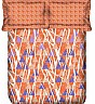 OSI ED Houndstooth B Orange & Purple Double Bed Sheet with 2 Pillow Covers - Online Shopping India